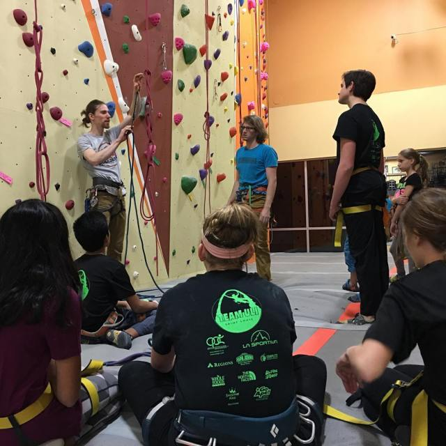 Our Chesterfield climbing team is learning about lead climbing Newhellip