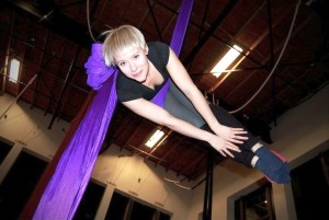 aerial fitness classes and yoga exercise at upper limits indoor rock climbing gym st. louis