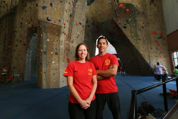 staff best male and female at upper limits indoor rock climbing gym st. louis