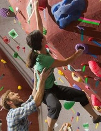 Couple Indoor Rock Climbing Gym Upper Limits Chesterfield