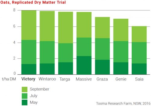 Replicated Dry Matter Trial Table