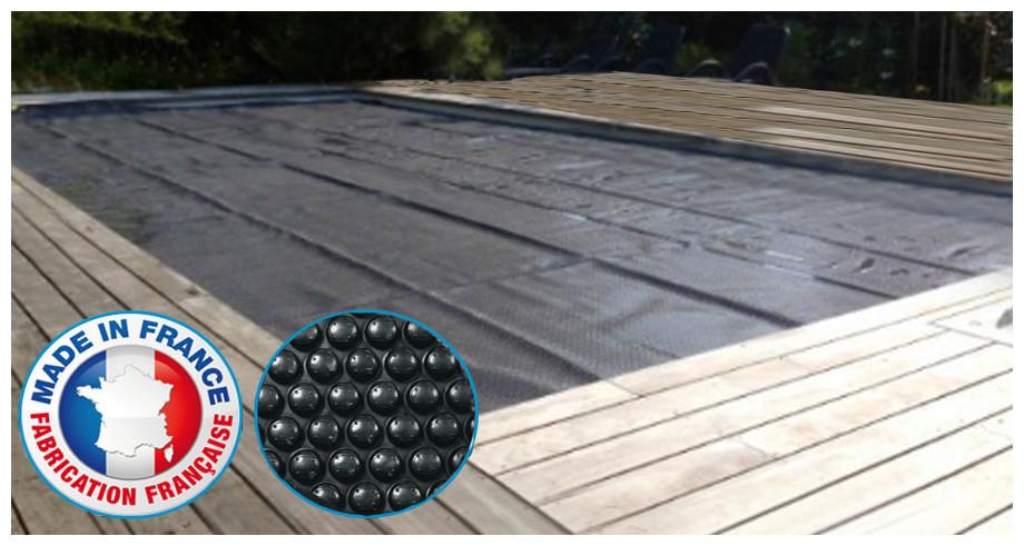 couverture isotherme sur mesure pour piscine couleur noire epaisseur 400µ
