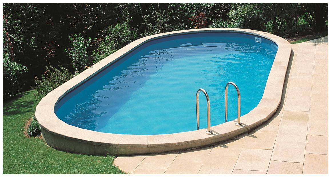 kit piscine enterree madagascar acier ovale 500 x 300 x 150 cm