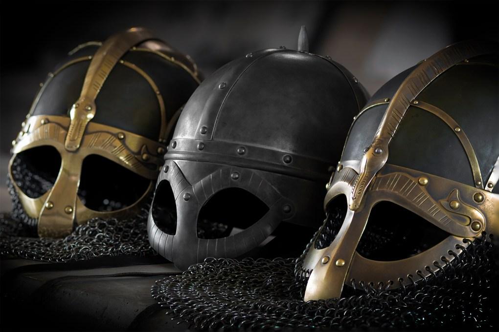 Vikingahjälmar från Gamla Uppsala mueum