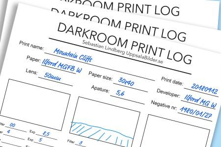 DarkroomPrintLog