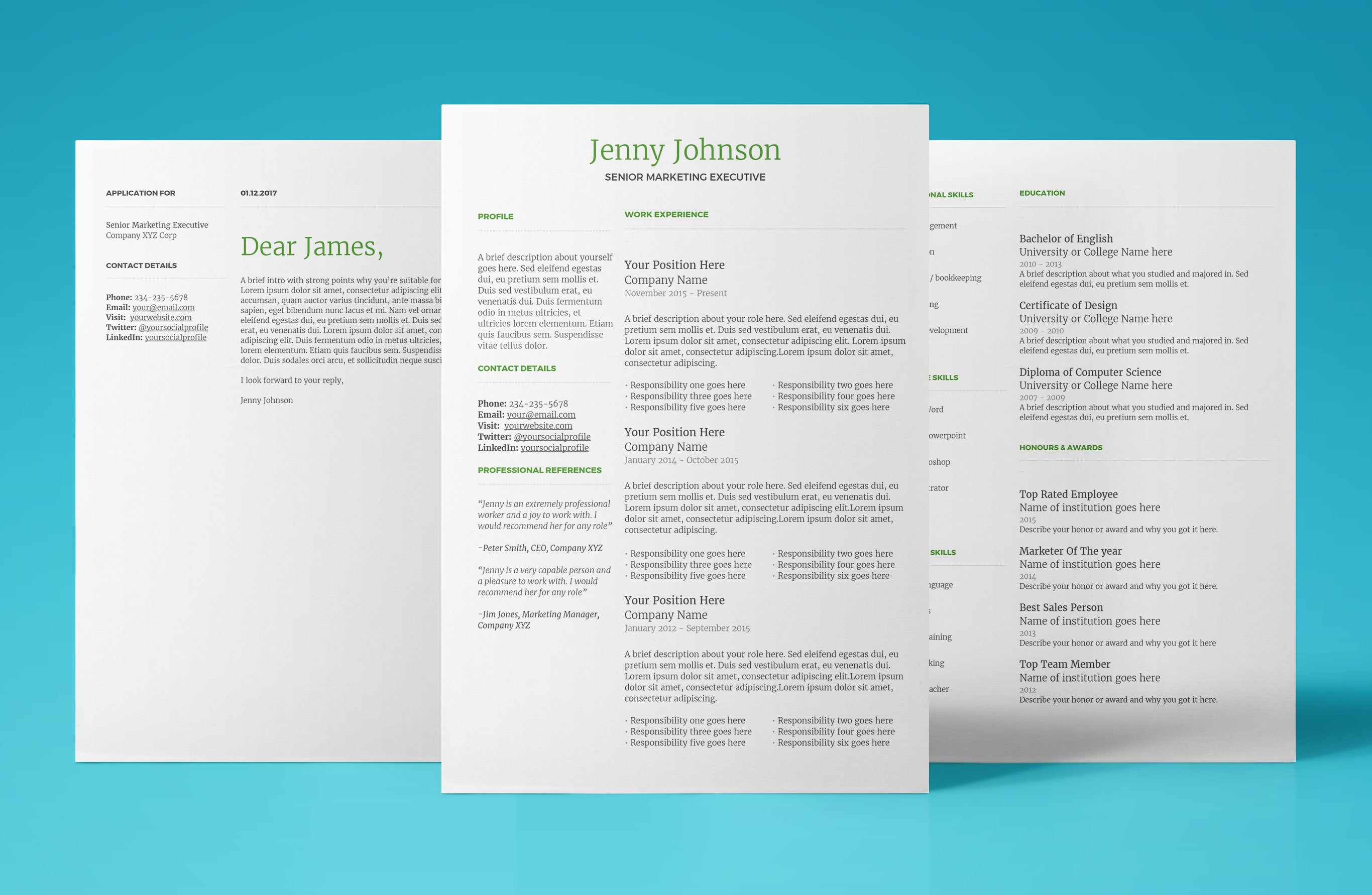 Mercury Resume Template  Google Resume Template