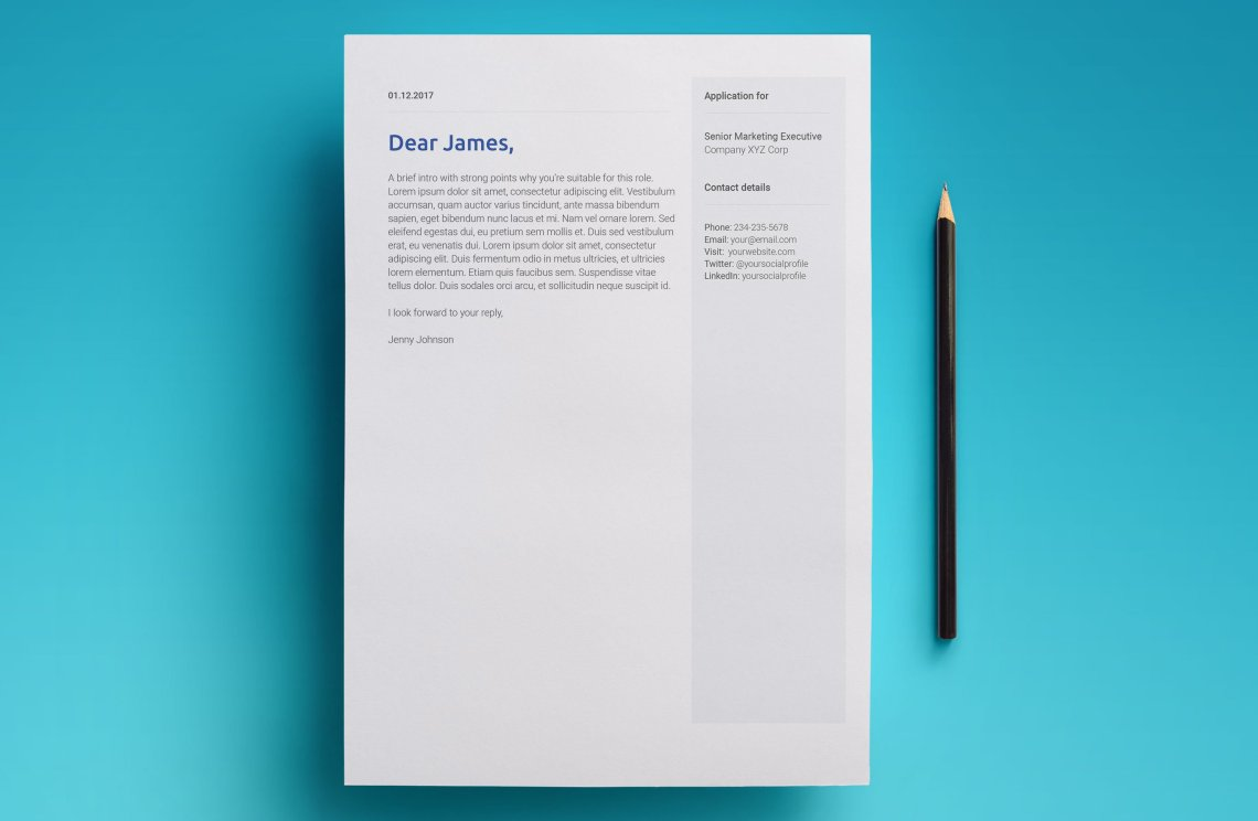 free google docs resume template - modern 2018 design