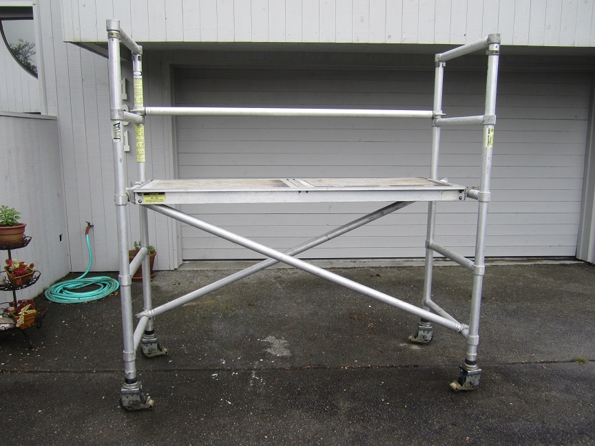 Aluminum Scaffold Parts : How to set up aluminum span scaffold