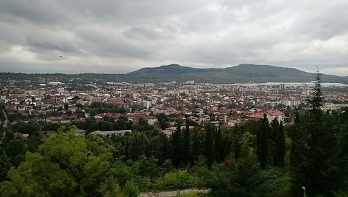 This is actually Kavadartsi, the bigger town up the road, and not Vatasha. Our host sister and her family live here and took us to the top of the city park!