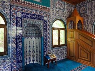 Beautiful tile work in the mosque