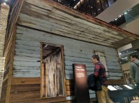 This is a slave cabin that was brought to the museum from South Carolina