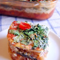 Vegetarian Spaghetti Squash Lasagna Casserole