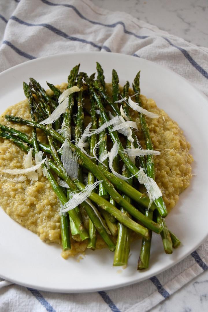 Roasted Asparagus Crusted With Parmigiano Reggiano Recipe