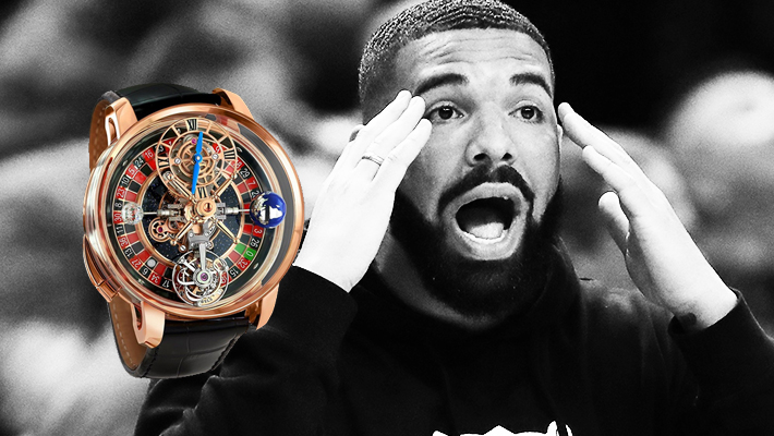 Drakes New Statement Timepiece Has A Working Roulette Wheel And Its Ridiculous