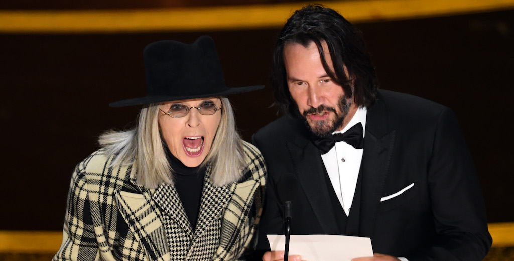 Keanu Reeves And Diane Keatons Onstage Oscars Banter Inspired A Lot Of Reactions