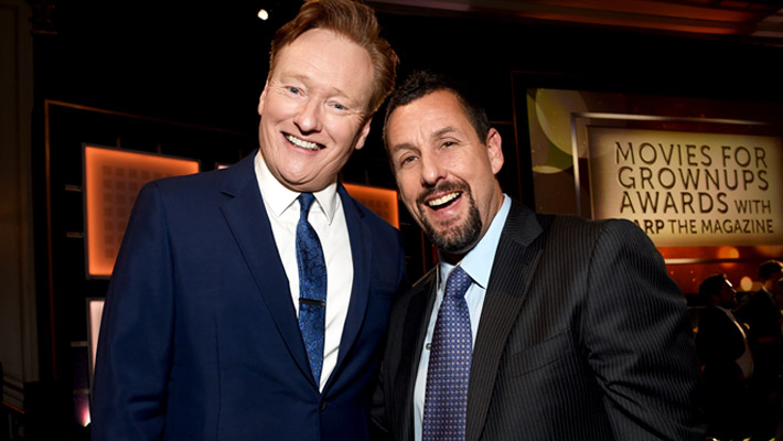 Conan & Adam Sandlers Mustache Got Loopy And A Little Bit Lewd During Quarantine
