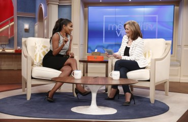 Gabrielle Union speaks with Meredith Vieira on married life. Photo by Peter Kramer/NBC.