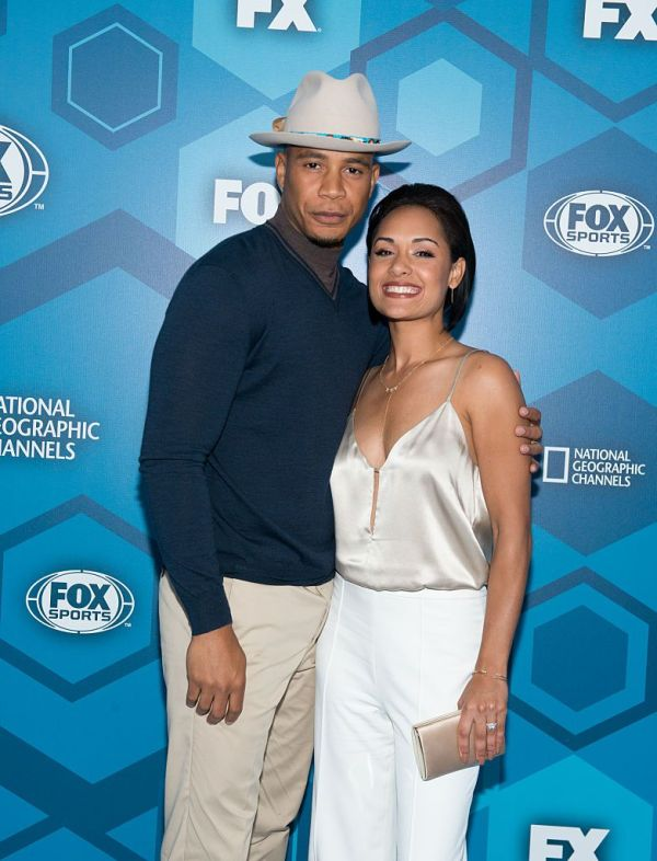 NEW YORK, NY - MAY 16: (L-R) Trai Byers and Grace Gealey attend the 2016 Fox Upfront at Wollman Rink, Central Park on May 16, 2016 in New York City. (Photo by Noam Galai/WireImage)