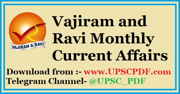Vajiram and Ravi Monthly Current Affairs