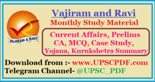 Vajiram and Ravi Monthly Study Material