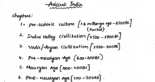 Ancient History Hand Written Notes PDF