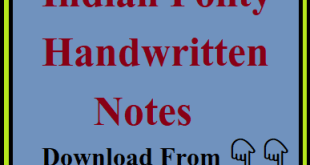 Vision IAS Polity Handwritten Notes PDF Download