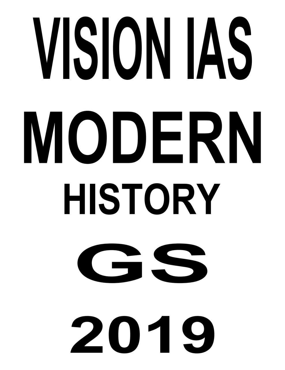 Vision IAS Modern History English Printed Notes PDF | | UPSC PDF
