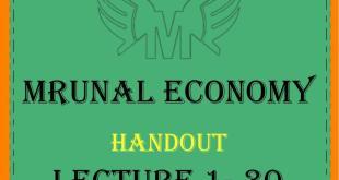 Unacademy Mrunal Economy 2019 Handout Complete PDF