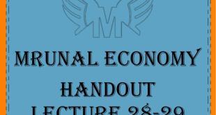 Unacademy Mrunal Economy 2019 Handout Lecture 28-29 PDF