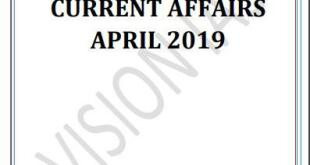 Vision IAS Current Affairs April 2019 PDF
