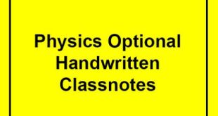 Physics Optional Complete Notes PDF Download