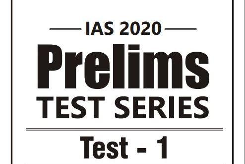 01 GS SCORE Prelims 2020 Test - Series with Solution | UPSC PDF