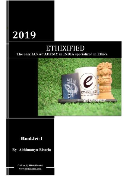 Ethixified IAS Ethics Printed Notes PDF