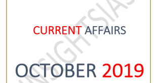 Insights IAS Current Affairs October 2019 PDF