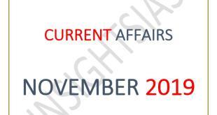 Insights IAS Current Affairs November 2019 PDF