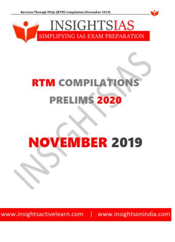 Insights IAS Revision Through MCQs November 2019 PDF