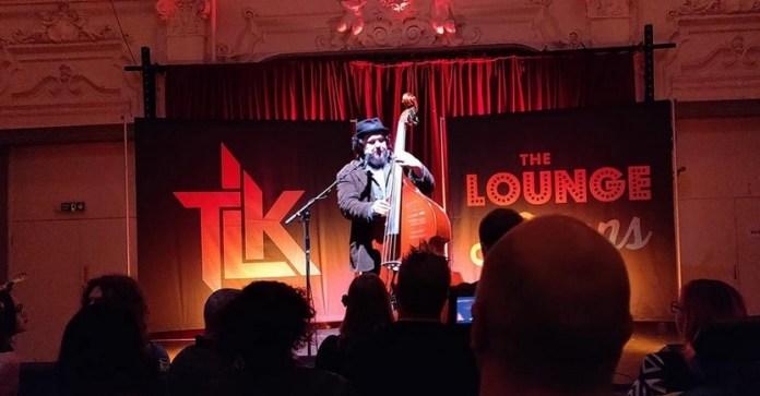 Grant Sharkey onstage at Bush Hall. Image via  Grant Sharkey