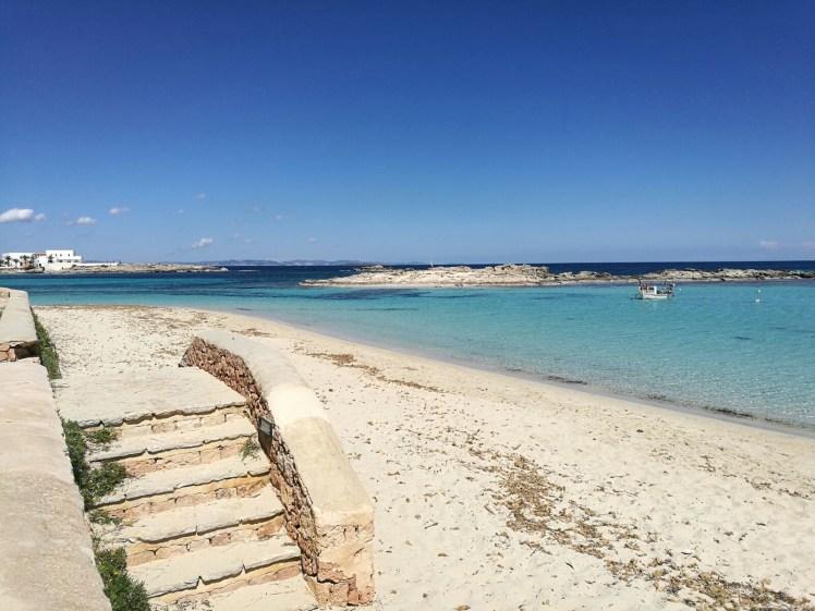 formentera beach, clear waters