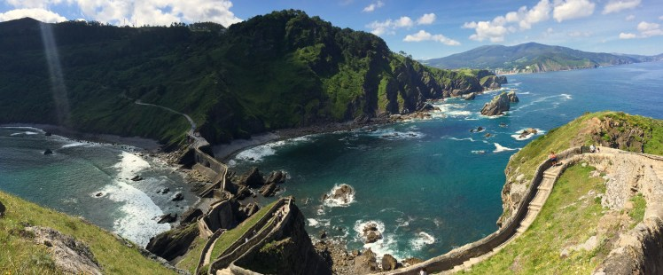 Gaztelugatxe panoramic view from the top