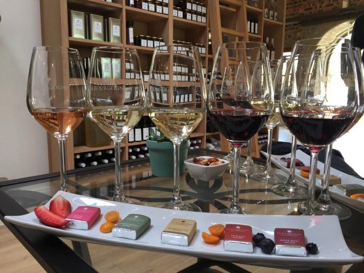Wine tram experience south africa: La Bourgogne Wine & Caramel Tasting