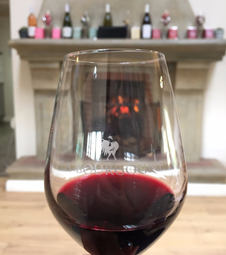 Wine at the fireplace