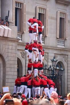 castells in Barcelona for Fiesta de merce