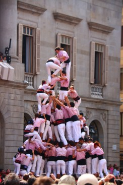 castells in Barcelona's Plaza Jaume