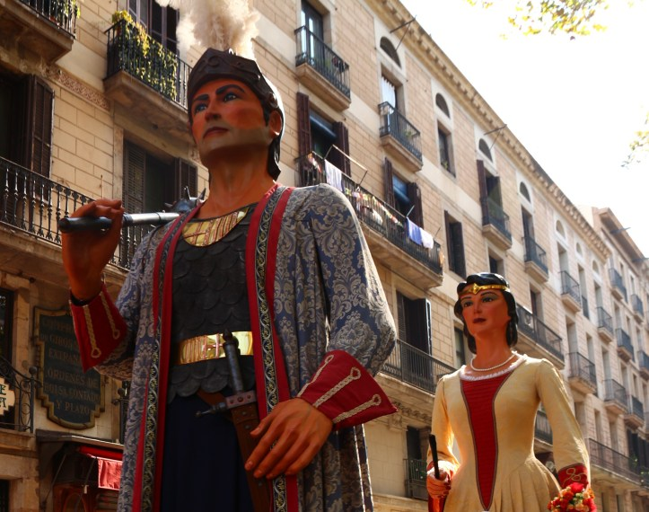Barcelona's fiesta de Merce giants king and queen