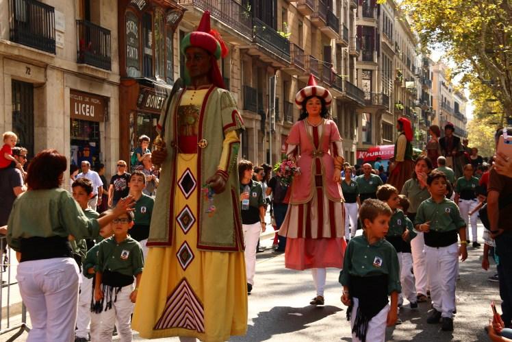 Fiesta de Merce Bsrcelona, Giants Parade Gegants del Pi