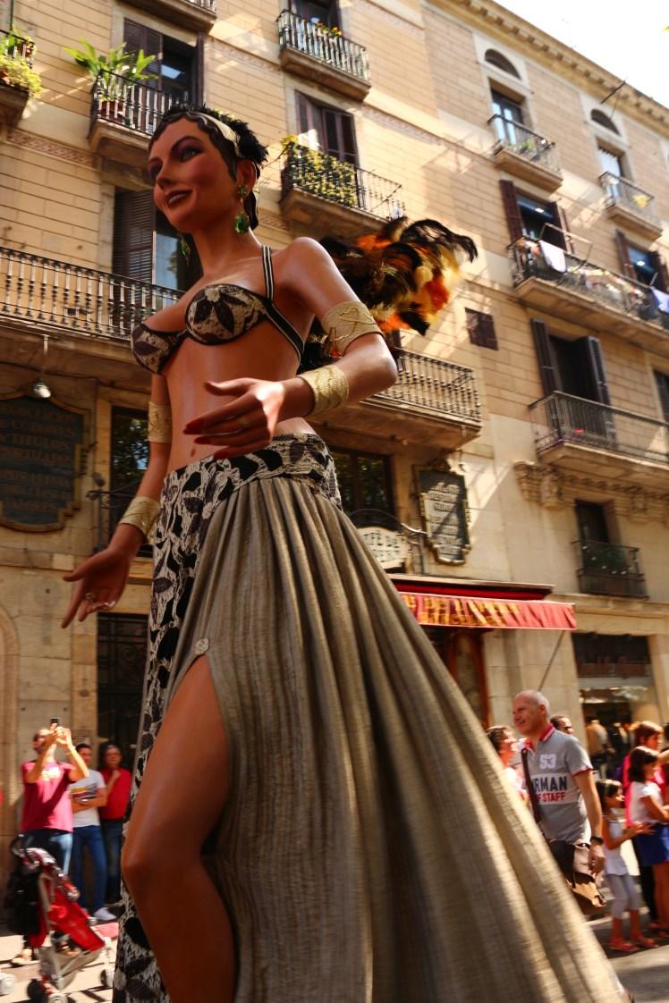 Rosa cabaret dancer Gegants of Poblesec, Fiesta de Merce