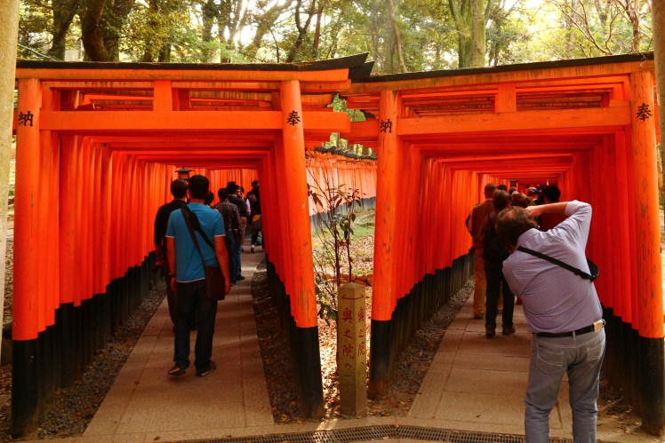 Overtourism at Fushimi Inari Temple in Kyoto, Japan