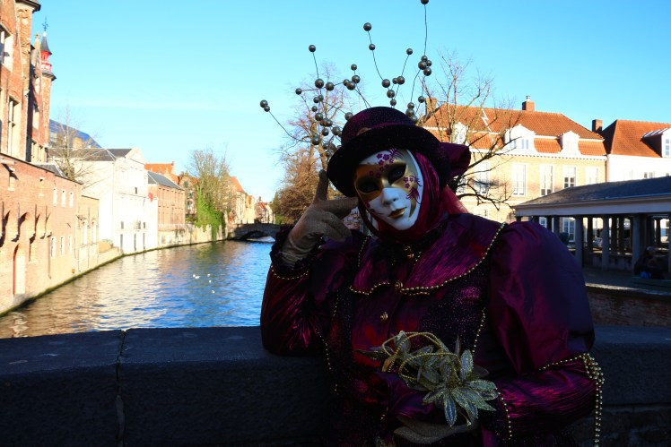 Venice masks and costumes in Bruges