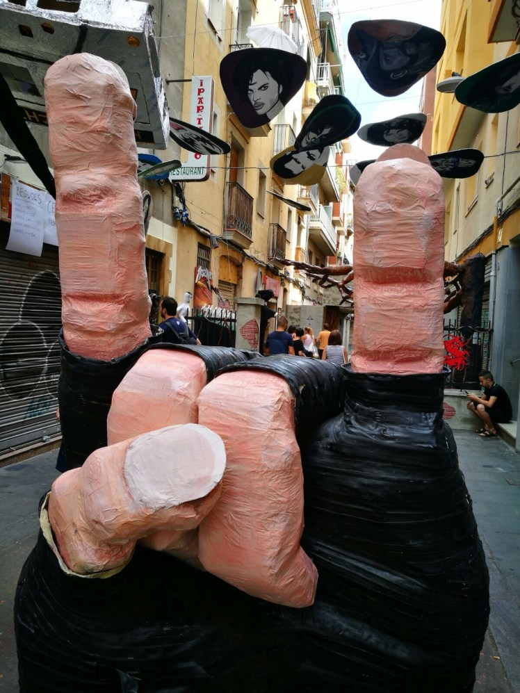 Fiesta de Gracia Barcelona - rock themed street