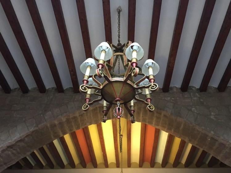 Parador de Cardona roof details decoration